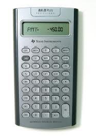 เครื่องคิดเลข TI BA II Plus Professional