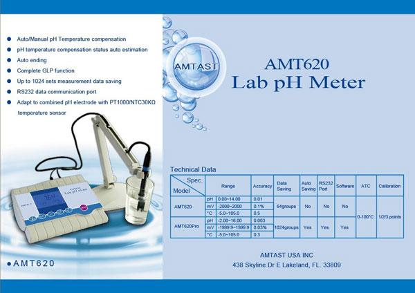 pH meter แบบตั้งโต๊ะ AMT620